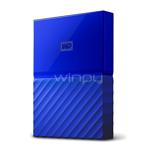 Disco duro portátil Western Digital My Passport de 1TB (USB 3.0, Azul)