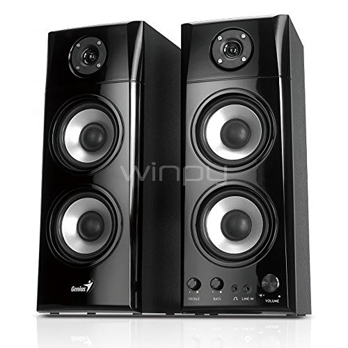 Parlantes Multimedia Genius - Madera, 50 Watts (SP-HF1800A)