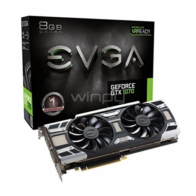 EVGA NVIDIA GeForce GTX 1070 GAMING ACX 3,0 - 8GB GDDR5 (08G-P4-6171-KR)