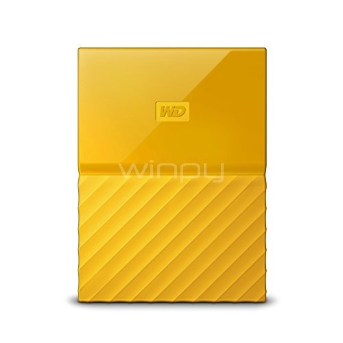 Disco duro portátil Western Digital My Passport de 1TB (USB 3.0, Amarillo)
