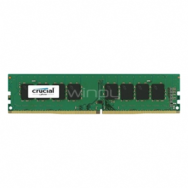 Memoria Crucial - RAM de 8 GB (DDR4, 2400 MT/s, DIMM 288-pin, PC4-192000)