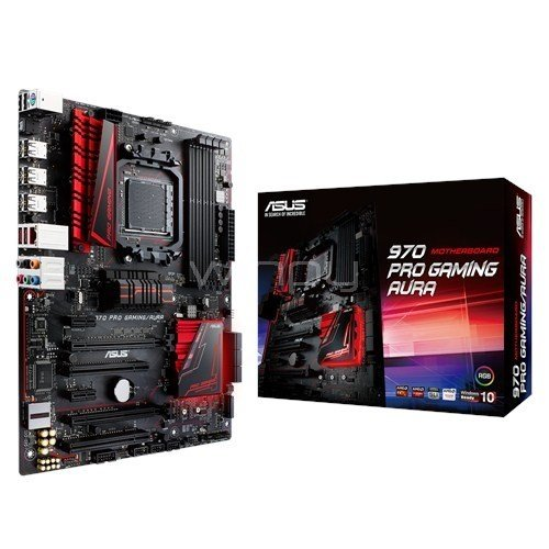 Placa Madre ASUS 970 Pro Gaming/Aura (AM3+, DDR3, ATX)