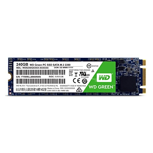 Disco duro sólido WD Green PC SSD -  de 240 GB (Serial ATA III, SLC, M,2)