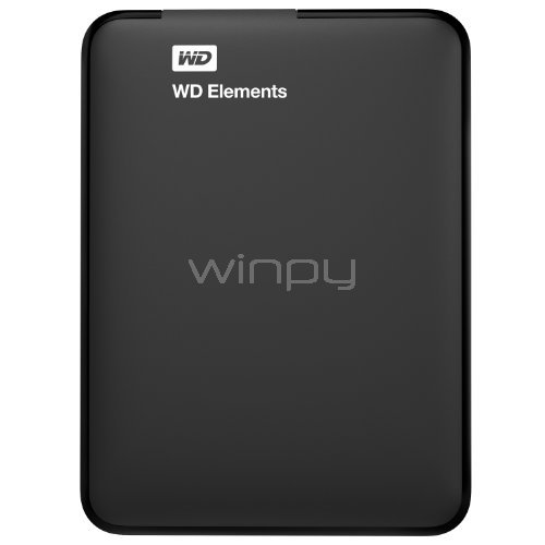 Disco duro portátil Western Digital Elements de 1TB (USB 3.0, Negro)