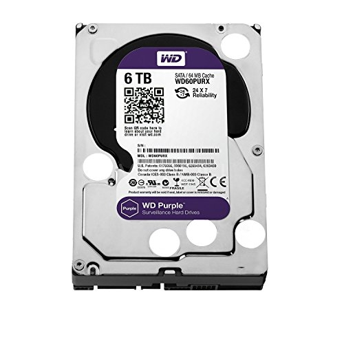 Disco duro 6-Tera Western Digital Purple (Serial ATA III, 5400 RPM, 3,5)