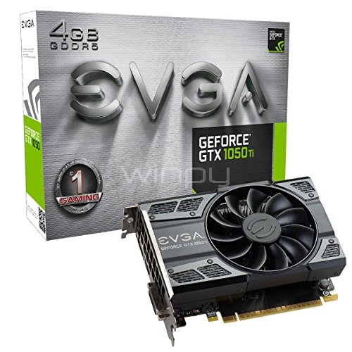 Tarjeta de Video EVGA NVIDIA GeForce GTX 1050 Ti - 4GB GDDR5