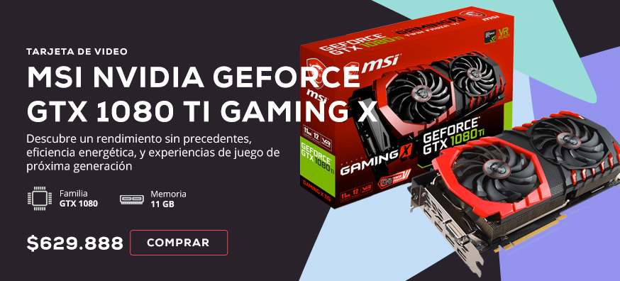 Tarjeta de Video MSI NVIDIA GeForce GTX 1080 TI GAMING X - 11 GB