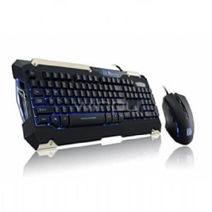 Kit Teclado + Mouse Thermaltake eSPORTS Commander (Alámbrico, Led Azul, USB)