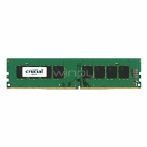 Memoria RAM Crucial de 4GB (DDR4, 2400 MT/s, DIMM 288-pin, PC4-192000)