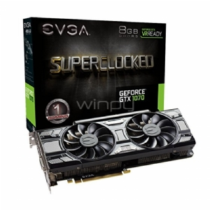 EVGA Nvidia GeForce GTX 1070 SC Gaming - Black Edition - 8GB GDDR5