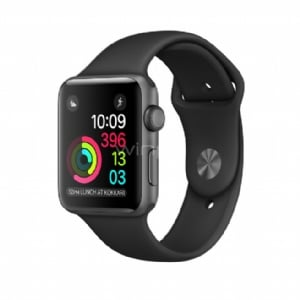 Apple Watch S2, 42mm Space Grey Alum Case with Black Sport Band