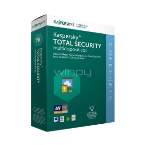 Kaspersky Total Security multidispositivos 3+1 usuario 1 año KL1919DBDFS