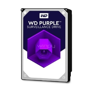 Disco duro Western Digital Purple 4TB (SATA III, 5400 RPM, 3.5)