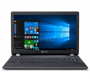 Notebook Gateway NE513-C2NP (N3050, 4GB RAM, 500GB HDD, Pantalla 15,6, W10, Negro)