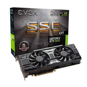 Tarjeta de Video EVGA NVIDIA GeForce GTX 1060 SSC DT GAMING - 3GB GDDR5