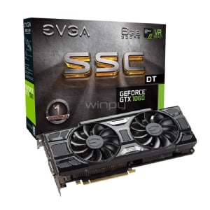 Tarjeta de Video EVGA Nvidia GeForce GTX 1060 SSC DT GAMING - 6GB GDDR5
