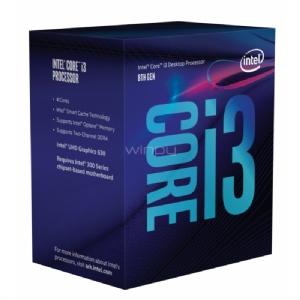 Procesador Intel Core i3-8100 Coffee Lake (LGA1151v2 - QuadCore - 3,6 GHz)
