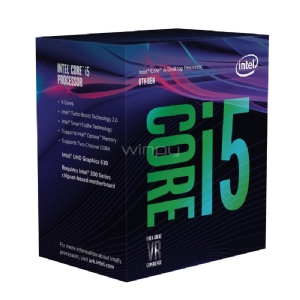 Procesador Intel Core i5-8400 Coffe Lake (LGA1151v2 - 6 Núcleos - 2,8 GHz - Turbo 4,0 GHz)