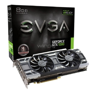Tarjeta de Video EVGA Nvidia GeForce GTX 1080 Gaming de 8GB GDDR5X