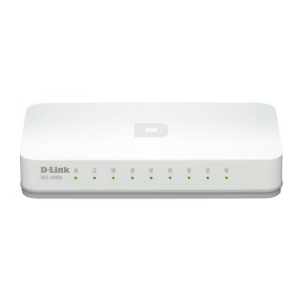 Switch D-Link DES-1008A, (No Administrable de 8 puertos Fast Ethernet 10/100BASE-TX)