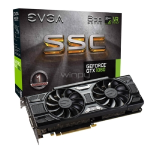 Tarjeta de Vídeo EVGA Nvidia GeForce GTX 1060 SSC GAMING (6GB GDDR5, ACX 3.0, LED)