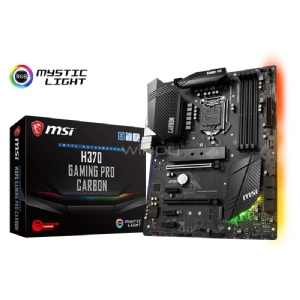 Placa Madre MSI H370 Gaming Pro Carbon (LGA1151v2, DDR4, M.2 x2, CrossFire, RGB, ATX)