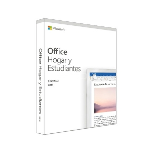 Microsoft Office Hogar y Estudiantes 2019 (1 PC, Español, Windows/Mac, Caja)