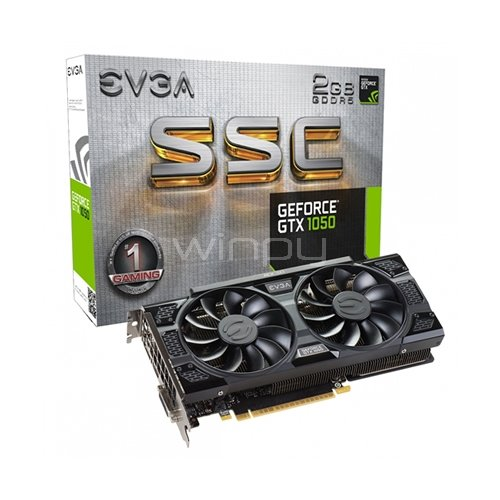 EVGA nVIDIA GeForce GTX 1050 SSC GAMING - 2 GB (02G-P4-6154-KR)