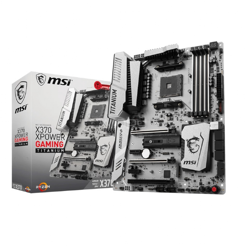 Placa Madre MSI X370 XPOWER GAMING TITANIUM (AM4, DDR4-3200, ATX)