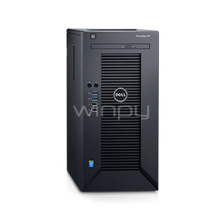 servidor dell poweredge t30 e3-1225v5 (xeon e3-1225v5, 8gb ddr4, 1tb 7200rpm, mini torre)