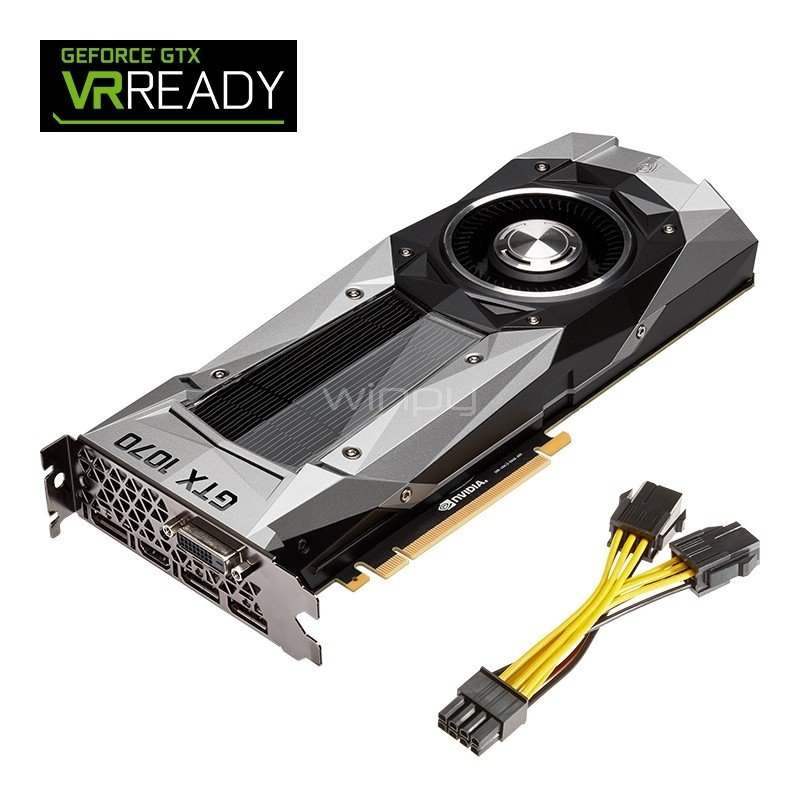 pny nvidia geforce gtx 1070 founders edition - 8gb