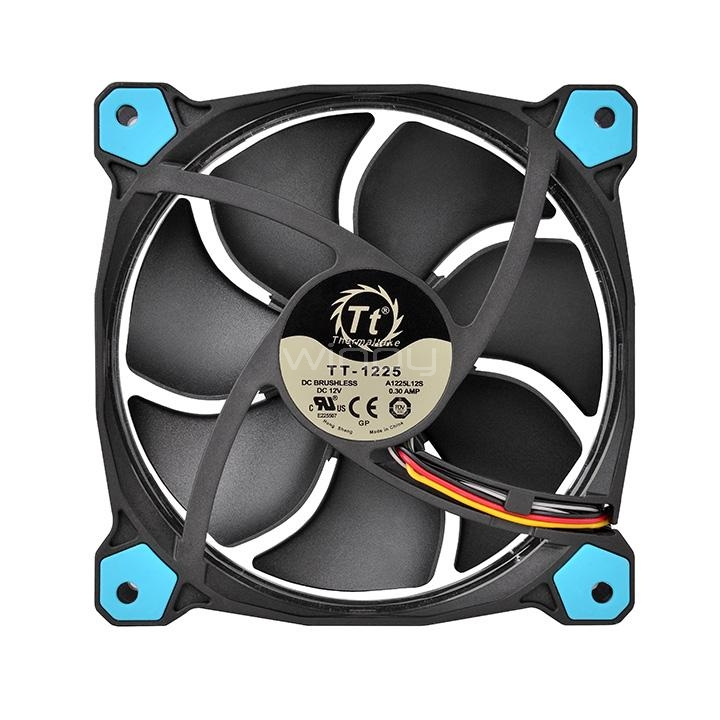 thermaltake riing 12 led - ventilador de 120 mm, azul
