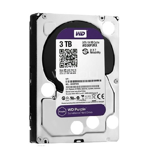 Disco duro 3-Tera Western Digital Purple (Serial ATA III, 5400 RPM, 3,5)