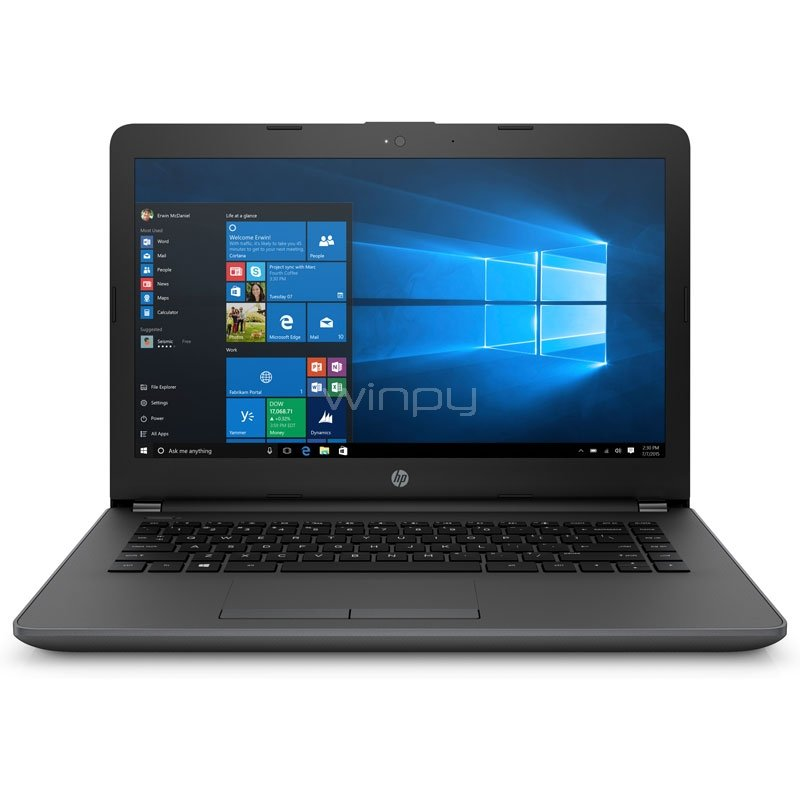 Notebook HP 240 G6 -1NW28LT (i5-7200U, 4GB DDR4, 1TB HDD, Win10, Pantalla 14)