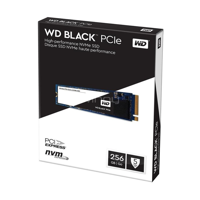 unidad estado solido pcie western digital black de 256gb (nvme)