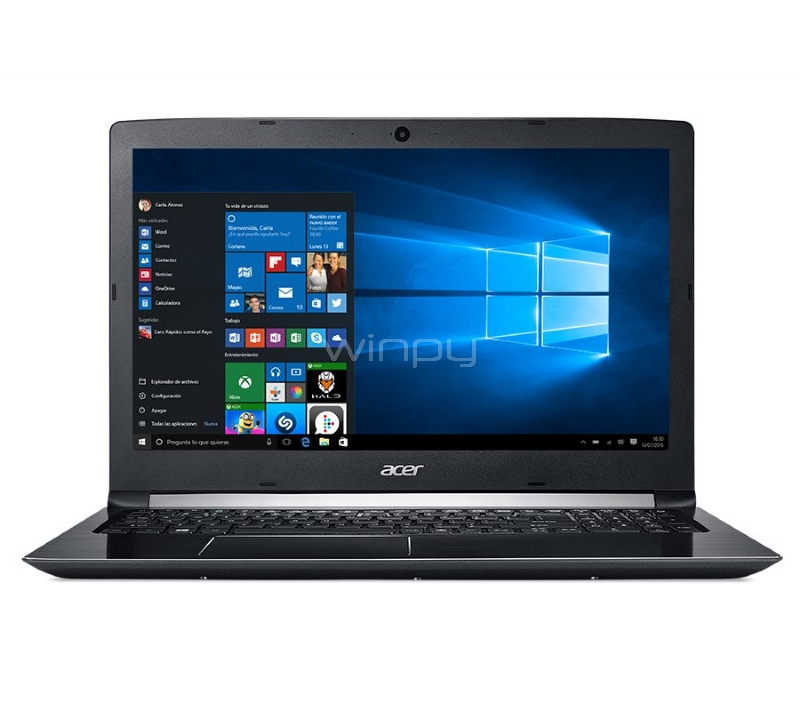 Notebook Acer Aspire 5 - A515-51G-55MY (i5-7200u, GeForce 940MX, 8GB DDR4, 1TB HDD, Win10, Pantalla 15,6)