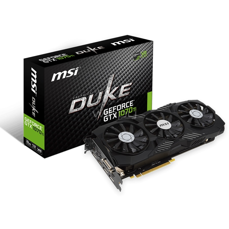 tarjeta de video msi nvidia geforce gtx 1070 ti duke - 8gb gddr5x