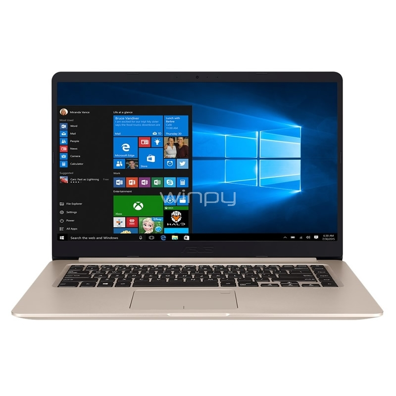 Ultrabook Asus VivoBook S15 - S510UQ-BQ305T (i5-7200U, GeForce 940MX, 12GB DDR4, 1TB HDD, Win10, Pantalla 15,6)