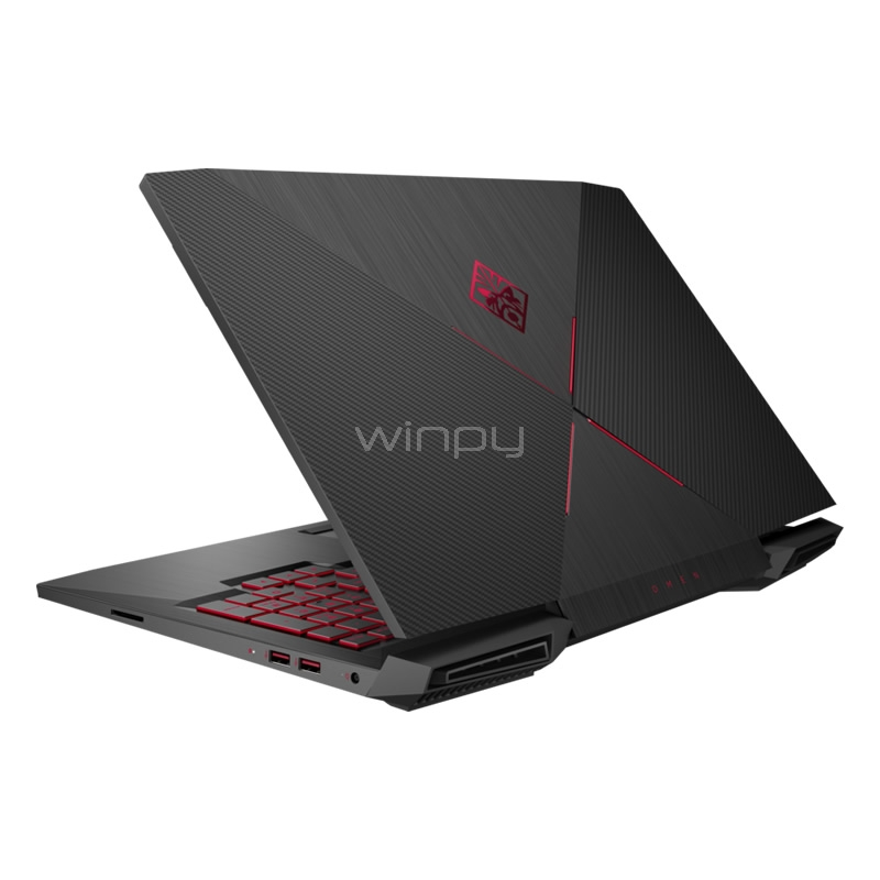 notebook gamer hp omen 17-an001la (i7-7700hq, geforce gtx 1050, 12gb ddr4, 1tb hdd, win10, pantalla 17,3 fhd)