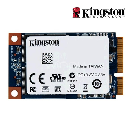 Unidad estado solido Kingston UV500 de 120GB (mSATA, 3D TLC, 520MB/s Write, 320MB/s Read)