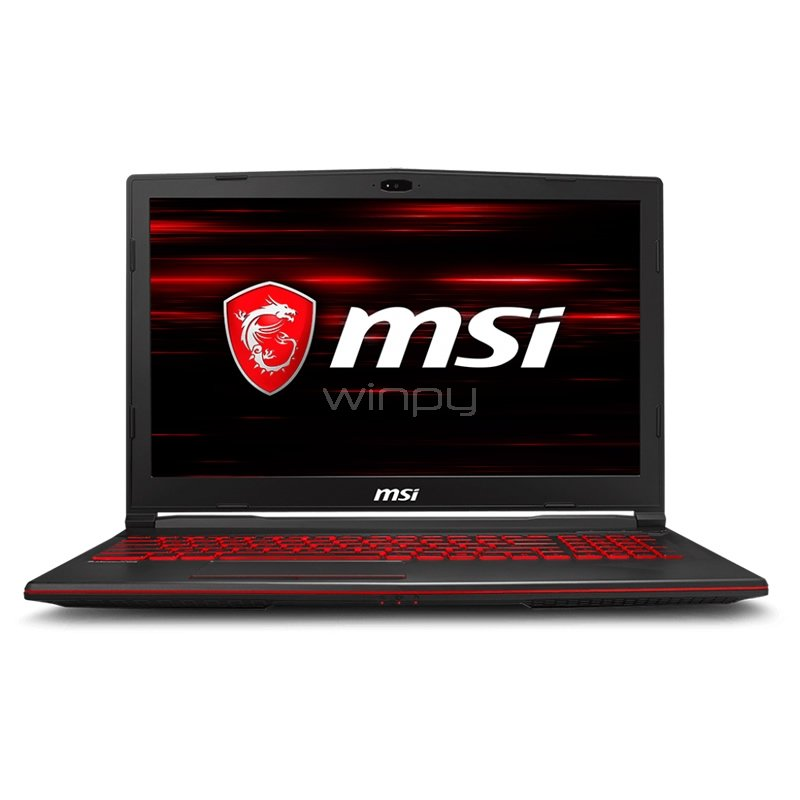 Notebook Gamer MSI GL63 8RC (i5-8300H, GTX 1050, 8GB DDR4, 1TB HDD, FreeDOS, Pantalla 15,6)