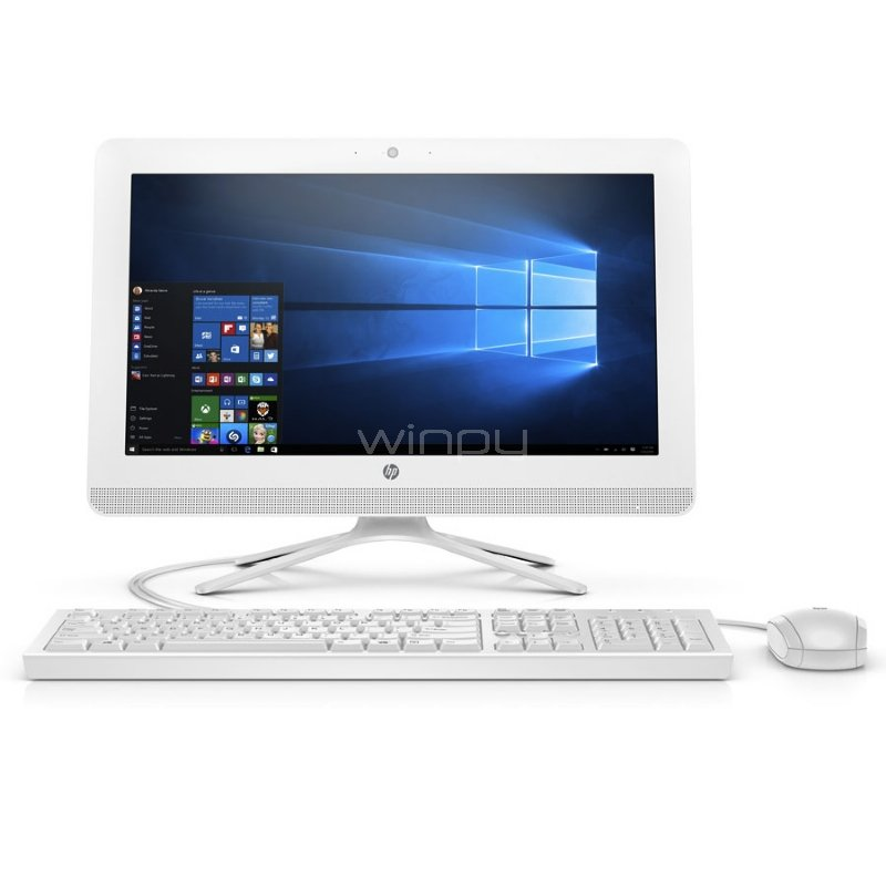 All in One HP 20-c403la con pantalla de 19,5 pulgadas (Celeron J4005, 4GB RAM, 1TB HDD, Win10)
