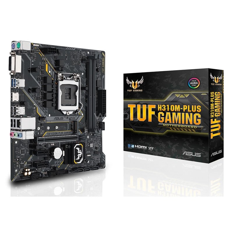 Placa Madre ASUS TUF H310-PLUS GAMING (LGA1151v2, DDR4 2666MHz, M2, RGB, ATX)