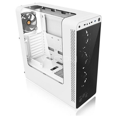 Gabinete Thermaltake View 27 (ATX, Sin Fuente, White, Led)