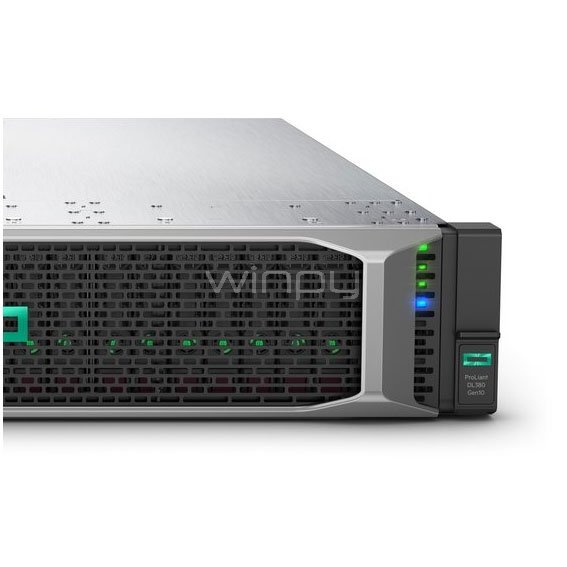 Servidor HPE ProLiant DL380 Gen10 (Xeon Gold 6130, 64GB DDR4, Sin disco, Fuente 800W, Rack 2U)