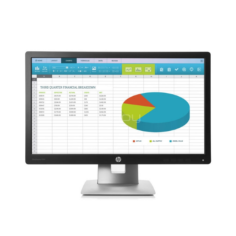 Monitor HP EliteDisplay E222 de 21,5 pulgadas (IPS, FullHD, DisplayPort+HDMI+VGA, Pivot)