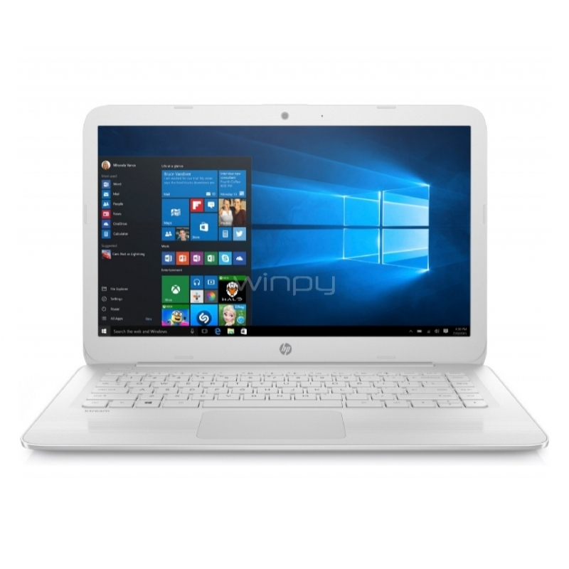 "Notebook HP Stream 14-ax025la (Intel N3060, 4GB RAM, 32GB SSD, Pantalla 14"", Win10)"
