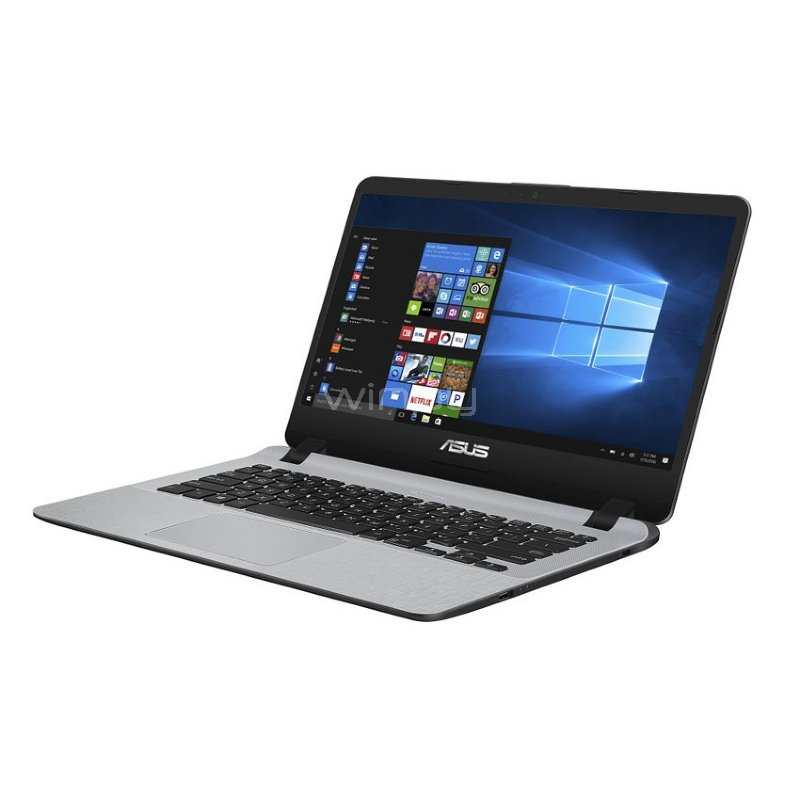 "Ultrabook Asus X407UB-BV169T (i3-8130U, GeForce MX110, 4GB RAM, 1TB HDD, Pantalla 14"", Win10)"